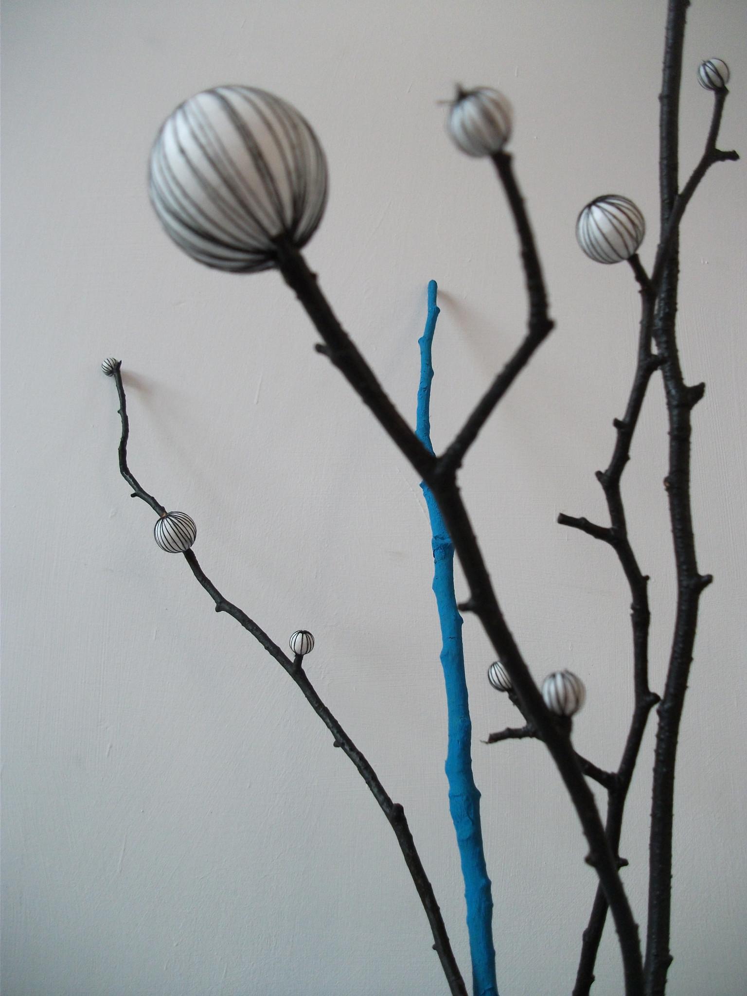 """zdjęcie wazonu """"blue cotton"""" - detal"""