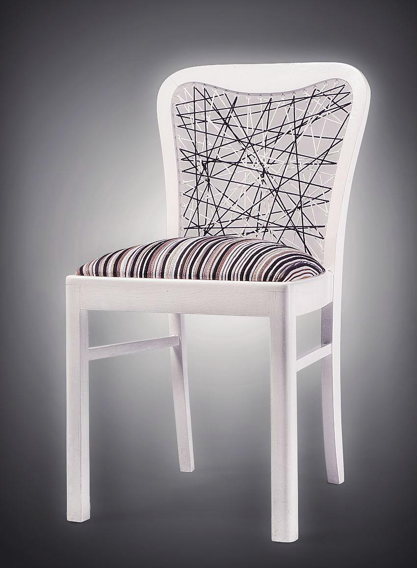 meble, designerskie, Łódź, onoMono, krzesło Linear, białe 2